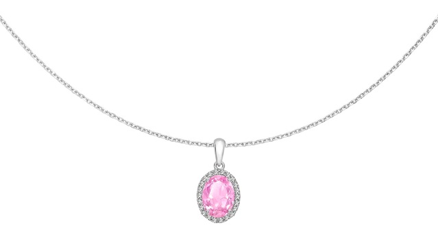 020516 Regalien Rose Sterling Silver White & Pink Tresor Crystal Necklace, £89